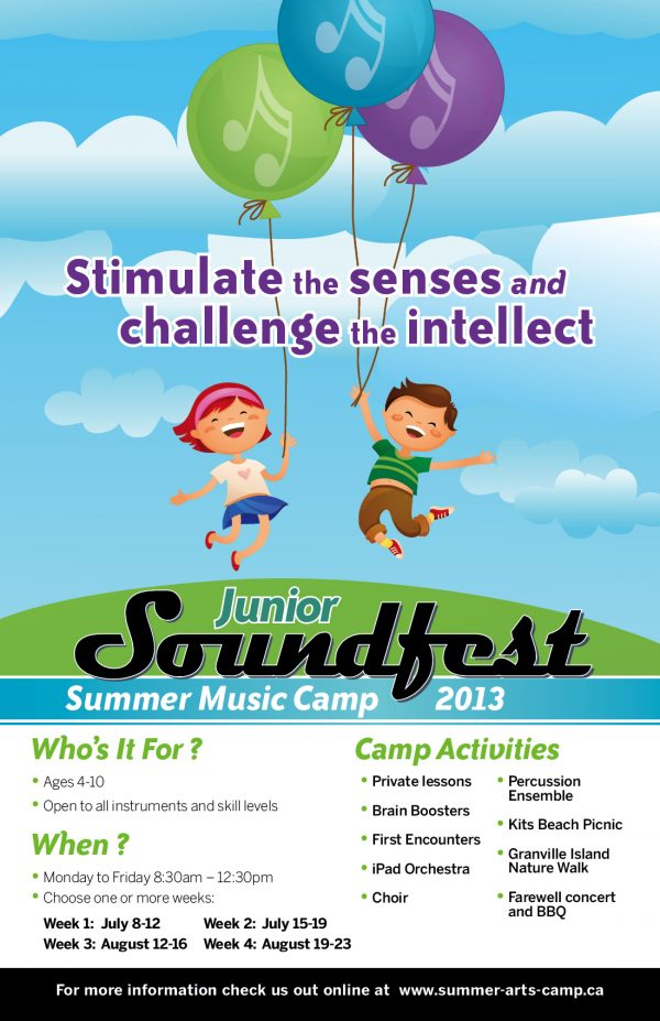 Junior Soundfest summer music camp 2013