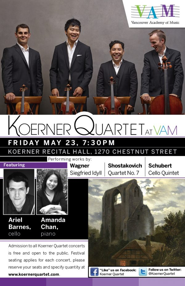 Koerner Quartet Concert Poster , May 20144
