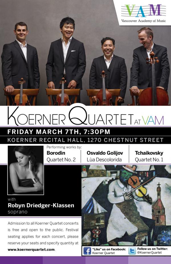 Koerner Quartet with Robyn Driedger-Klassen, soprano