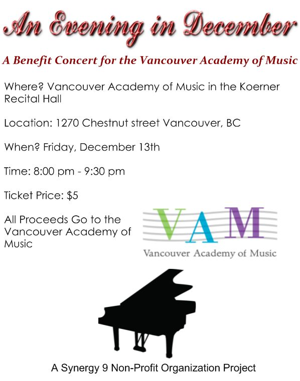 An Evening in December: A Benefit Concert for VAM