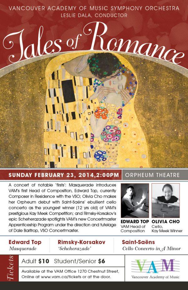 February VAMSO Concert poster
